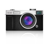 New Design of Digital Camera in Classic Style body Stock Photo