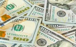 New design 100 dollar US bills or notes Stock Photos