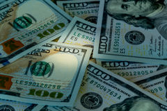 New design 100 dollar US bills or notes Royalty Free Stock Photography