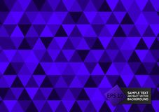 New design purple color triangles abstract background modern design,  Vector illustration eps10.  Royalty Free Stock Photo