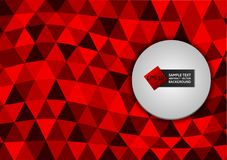 New design red color triangles abstract background modern design,  Vector illustration eps10. New design red color triangles abstract background modern design Stock Image