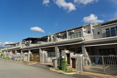 A new developed area with new stype terrace houses Royalty Free Stock Photos