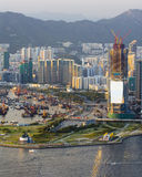 New Developing District beside Victoria Harbour Stock Photo