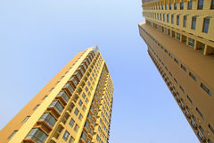 New development building in blue sky background Royalty Free Stock Images