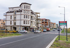 New Development in Bulgaria Ravda. Ravda - ancient Bulgarian seaside town famous discoveries of ancient Slavic settlements. Located on the past in the Black Sea stock photos