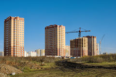 New development in Lipetsk. Royalty Free Stock Photography