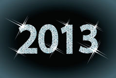 New diamond 2013 Year. Vector illustration Stock Images