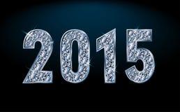New diamond 2015 year, vector. Illustration stock illustration