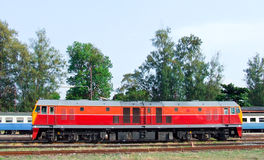 New diesel electric locomotive Royalty Free Stock Photo