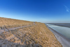 New Dike In The Netherlands Royalty Free Stock Images