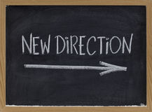 New direction. Leadership concept on blackboard royalty free stock photography