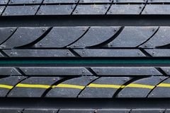 New dirty tyre pattern Royalty Free Stock Images
