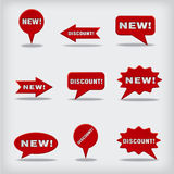 New and discount badges Stock Photos