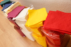 New disposable paper table napkins Royalty Free Stock Images