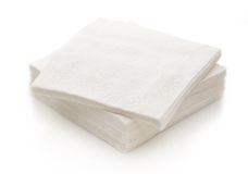 New disposable paper table napkins Royalty Free Stock Image