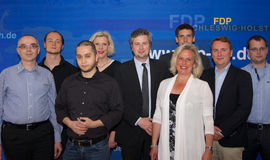 The new district board of the FDP Kiel Royalty Free Stock Images