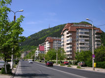 New district of Brasov. This is the gate of Racadau district (in Brasov city). This ward is built at the Tampa mountain feet (955 m alt) thirty years ago Royalty Free Stock Image