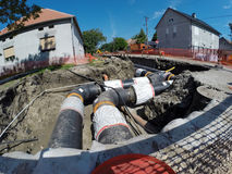 New District Heating System Royalty Free Stock Photos