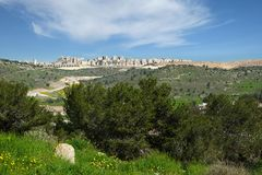 New districts of the city of Beit Shemesh. View from the hill on new districts of the city of Beit Shemesh Stock Photo
