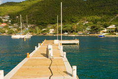 A new dock at bequia's marina in the windward islands Stock Photos