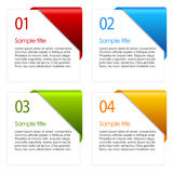 Vector information cards Royalty Free Stock Photos