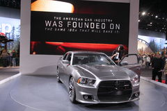 New Dodge Charger 2011. Chicago auto show February 2011 Royalty Free Stock Image