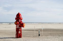 New Dog Park. New fire hydrant sculpture marking the new dog beach in Wildwood New Jersey Royalty Free Stock Photo