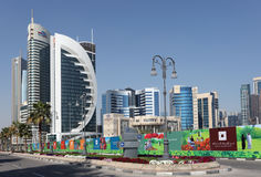 New Doha downtown district, Qatar Stock Image