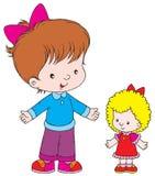 New doll. Vector clip-art / children's illustration for yours design, postcard, album, cover, scrapbook, etc Stock Image