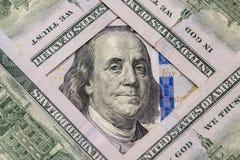 New 100 dollar banknote. Macro shot of new 100 dollar banknote Royalty Free Stock Image