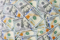 New 100 dollar bill background Royalty Free Stock Images