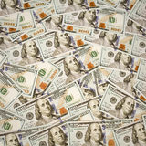 New 100 dollar bill background. Royalty Free Stock Photos
