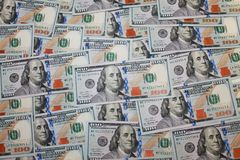 New Dollars Background stock photo