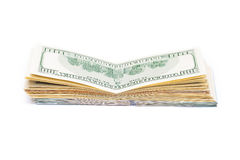 New 100 dollars by close up Stock Photography