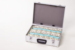 New dollars packed in the case. Stock Images