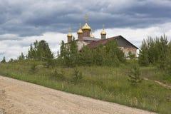 New domes on restorative church of St. Nicholas Stock Photo