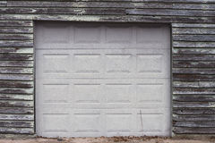 New door on old garage Royalty Free Stock Photography