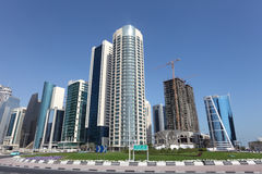 New downtown district in Doha Stock Photos