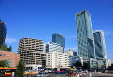 New downtown of Warsaw Stock Photography