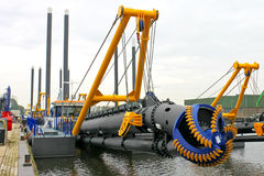 New dredge ship Stock Photography