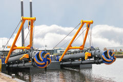 New dredge ship Stock Photo