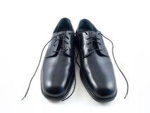 New Dress Shoes. With a white background Royalty Free Stock Photos