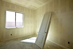 New drywall with doors ready for installation Stock Images