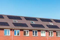 New Dutch houses with solar panels Stock Image