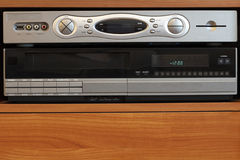 New DVR with Old VCR. Technology to watch television in modern ways sits on top of an old video player Royalty Free Stock Photography