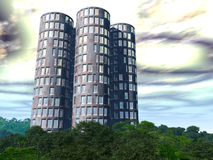 New Earth 5. A modern building in a beutiful forest Royalty Free Stock Image