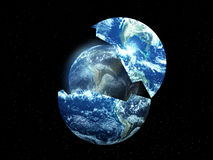 New Earth From Old 2. A conceptual image about rebirthing the world Stock Photos