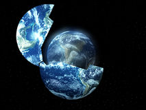 New Earth From Old 3. A conceptual image about rebirthing the world Royalty Free Stock Images
