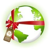 New Earth-Recycled. New recycled earth-A gift for the future generation Royalty Free Stock Image