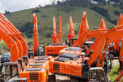 New Excavator Machines Construction Royalty Free Stock Photo